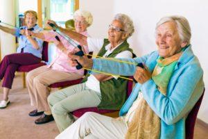 Parkinson's patients exercising