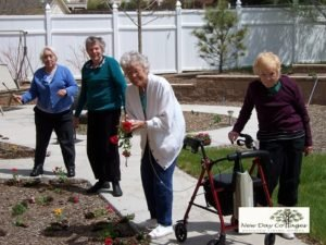 Gardening at New Day Cottages in Colorado Springs